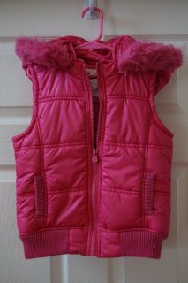 Girls Justice Pink Puffer Vest Size 8