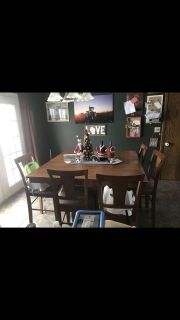 WGNR counter height 7 piece dining table