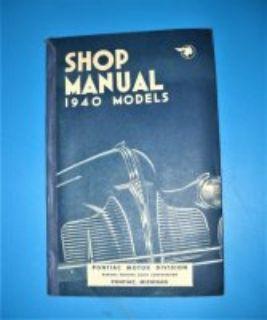 Original 1940 Pontiac Shop Manual with Lubrication Chart