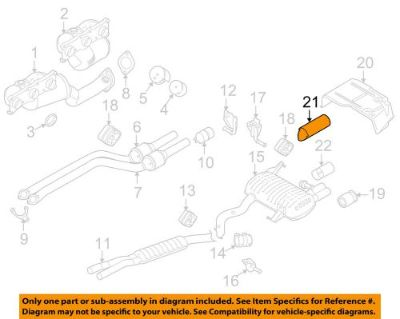 Find BMW OEM 07-12 328i 3.0L-L6 Exhaust System-Tailpipe Extension Right 18307553643 motorcycle in Shrewsbury, Massachusetts, United States, for US $51.46