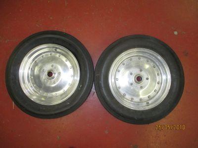 vintage Cragar Anglia spindle mount wheels