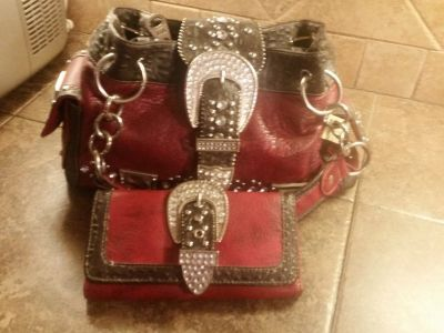 Bling purse and wallet set