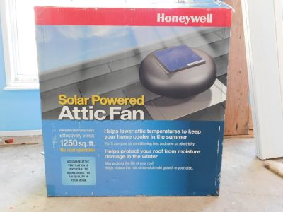 Solar Powered Attic Fan Honeywell 12 Watt