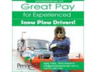 WANTED IMMEDIATELY Snow Plow Drivers for Pennellaandacirc;s Landscape Designs