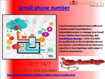 how am i capable of expect gmail phone quantity #1-850-361-8504?