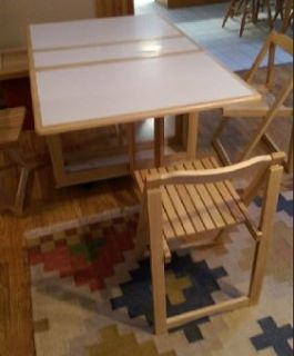 Folding Table with 4 Folding Chairs