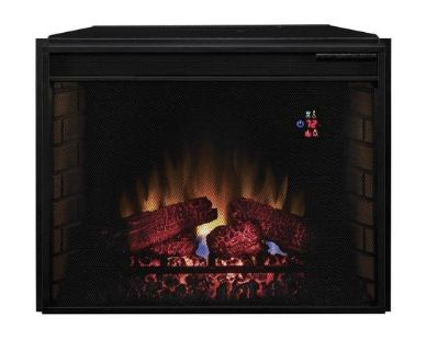 ClassicFlame 28EF023SRA Electric Fireplace with Mesh Screen Front