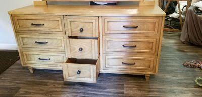 Solid wood dresser