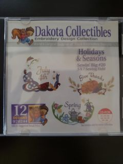Holidays and seasons embroidery CD
