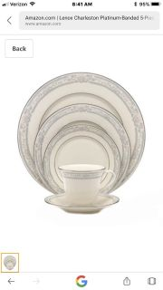 8 5 pc settings of Lenox Charleston pattern plus PCs