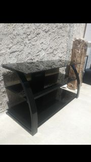 Black Glass TV Counter