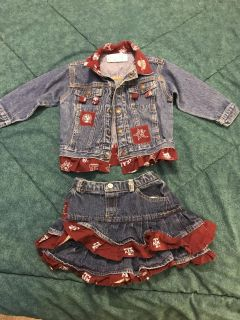 A&M jean jacket and skirt