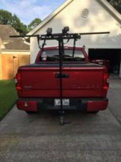 T rack for receiver hitch. Yakima rollers with roof carrier