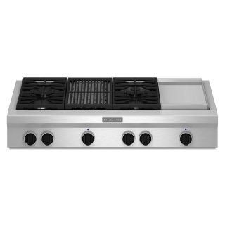 KitchenAid 48 in. Gas Cooktop *Discontinued* KGCU484VSS