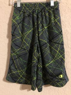 Champions Multi Color Gym Sports Shorts. Size 7-8