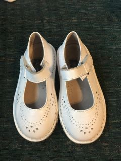 White lamour toddler shoes