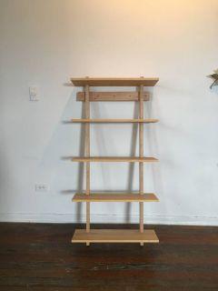 Solid Wood Bookshelf Display Shelf Wall Mounted