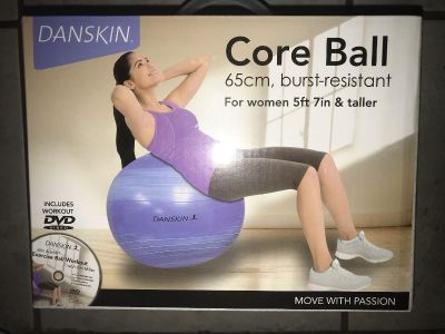 New In Box Danskin Core Ball with DVD and Pump