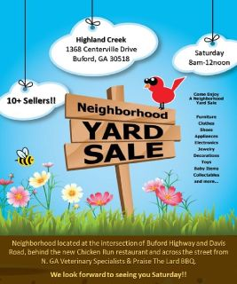 COMMUNITY-WIDE YARD SALE - this Saturday in Buford