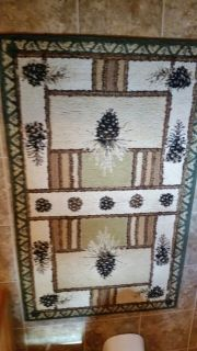 Pine Cone Pattern Area Rugs
