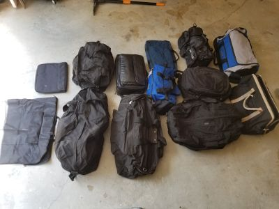 13 Assorted Nylon Sports/Travel Bags