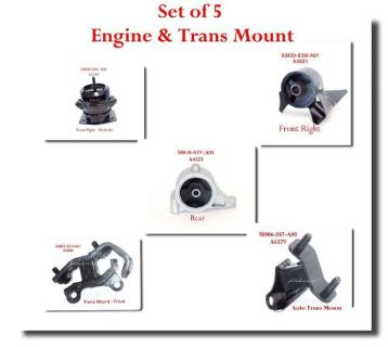 Purchase Set 5 Engine & Auto Trans Mount Fits: Acura MDX 2001-2002 Honda Pilot 2003-2005 motorcycle in El Monte, California, United States, for US $83.50