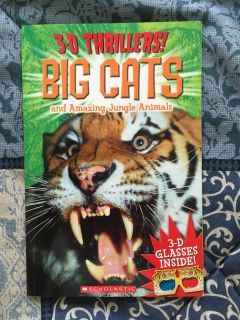 Big Cats book with 3D glasses