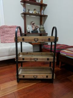 3-Tier Rustic Country Kitchen Shelving Unit
