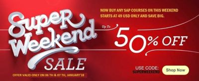 Super Weekend Sale (  06 - 07 th, JAN'18 )  -  Learn  Single Course @ 49 $  -