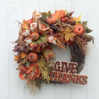 Grapevine Give Thanks Wreath