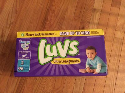 Gorham. Case of Luvs Diapers size 2 96 count