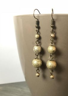 Gold Sparkle Stacked Earrings