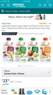 Happy Baby Food Pouch Variety Pack (16)