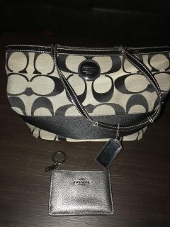 Coach purse and small wallet