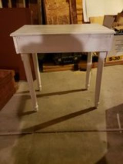 Wooden Table Painted White