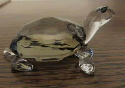 """Swarovski """"Tortoise"""" Crystal w/Brown Shell from the Rare Encounters Collection"""