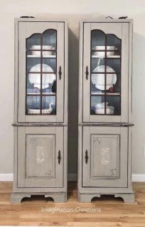 Twin Display Cabinet/ hutch/ tv side by sides