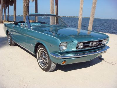 1966 Ford Mustang Conv Tahoe Turquoise Metalic 289 Auto
