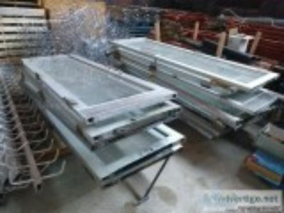 Lot of Aluminum and Glass Doors