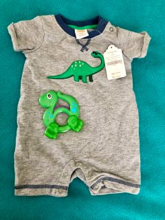 NWT Gymboree 0-3 Month Dinosaur Outfit