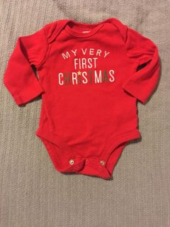 Carters First Christmas onesie 3 months