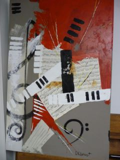 Large Modern Painting on Canvas