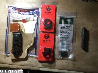 For Sale: Ruger scope rings/holster