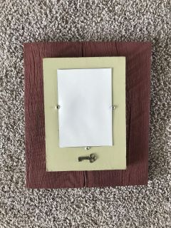 Authentic barn wood picture frame- 4x6 opening