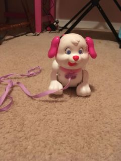 Rolling dog toy