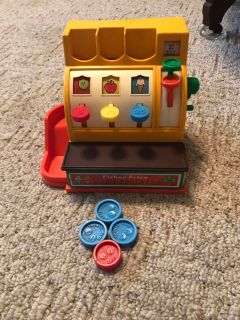 Vintage Fisher-Price Cash Register. Very Good Condition.