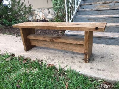 Sturdy wooden bench