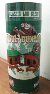 Paul Bunyan log building set NEW