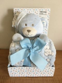 Baby Swaddle Blanket With Bear by Aurelius