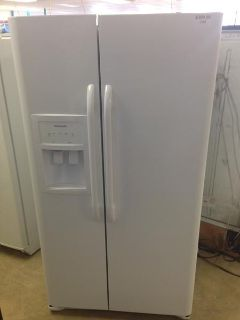 $399.99, 25 Cu. Ft. White Frigidaire Side by Side Refrigerator-i198